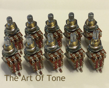 Bourns 250K Push/Pull Short Shaft Audio Taper Pot - Lot of Ten