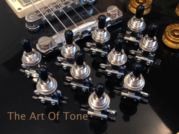 Switchcraft Short Frame Toggle - Black Switch Tip  The Art Of Tone