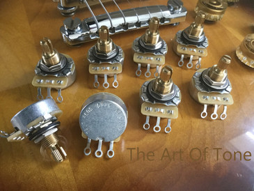 CTS TAOT CUSTOM 500K Vintage Audio Taper Short Split Shaft Pot The Art Of Tone