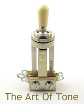 Switchcraft - Toggle Switch - Long Frame - Exact Replacement for most Les Paul's - Cream Switch Tip