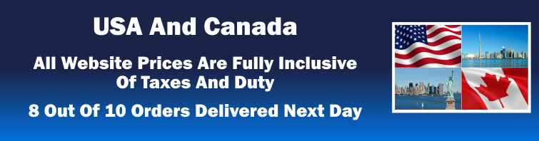 USA and Canada Delivery Info, All Web Prices include Taxes and Duty