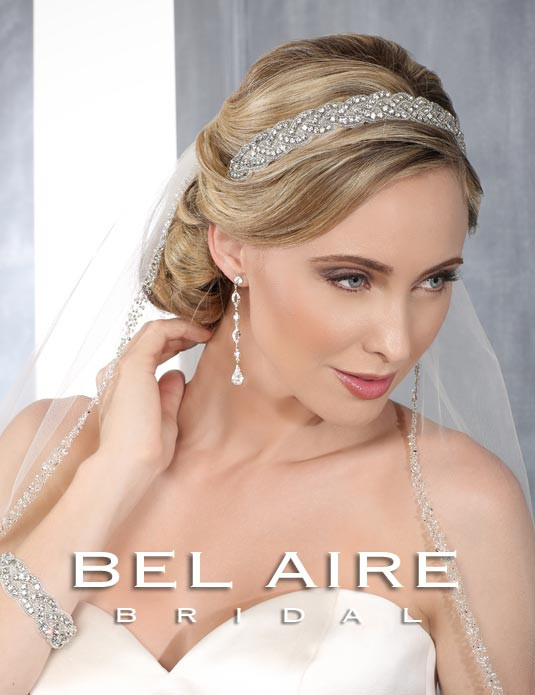 Bel Aire Bridal Headpiece 6426 - Rhinestone and beaded Headband