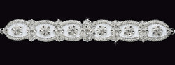 En Vogue Bridal Sash BT1481- Heavily Beaded Belt