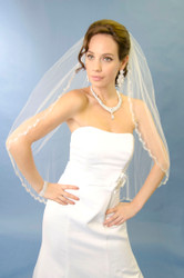 Ansonia Bridal Veil Style 153S - Fingertip Wedding Veil