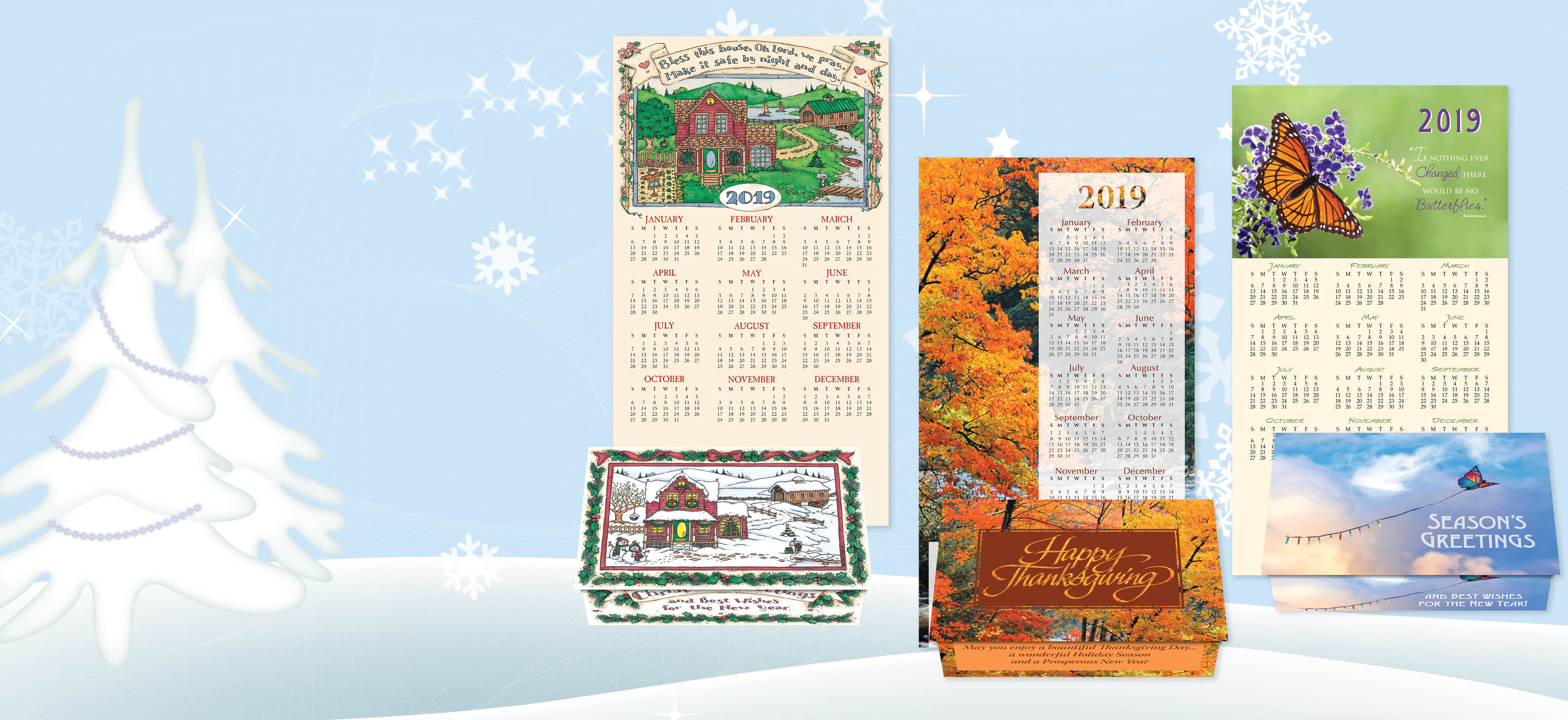 Choose from more than 100 Calendar Card Designs