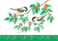 Christmas chickadees  #FRS708