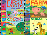 My First Early-Learning Sticker Books Set of 4 (Paperback)