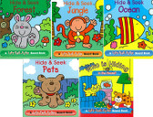 Little Lift-a-Flap Set of 5:  3.5 x 3.5 x .5 inches (Board Book)