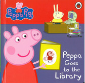 Peppa Goes to the Library: Peppa Pig (Board Book)