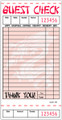 "Asian Theme Guest Check, Board Paper, GC501-BK, 1 Part Booked, Packed 50/50, 18 Lines, Red, 3.4"" x 6.75"""