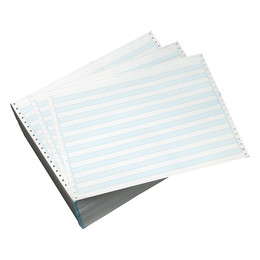"14 7/8"" X 11"" 20# 1/2"" Blue Bar, Continuous Computer Paper, 2700 sheets, 9153"