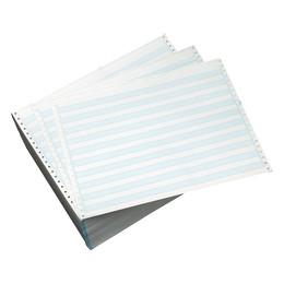 "14 7/8"" X 11"" 18# 1/2"" Blue Bar, Continuous Computer Paper, 3000 sheets, 860"