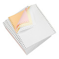 "9 1/2"" x 11"" 15# Blank Regular Perforation, 4-Part Carbonless, Continuous Computer Paper, 900/3600 sheets, 91194"