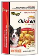 Wanpy Chicken Jerky with Apple 100g