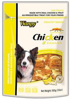 Wanpy Chicken Jerky with Banana 100g