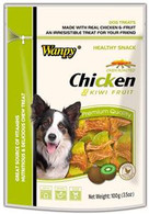 Wanpy Chicken Jerky with Kiwi 100g