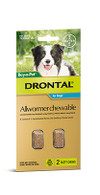 Drontal All Wormer Chewable Tablet Medium Dogs 2 Pack