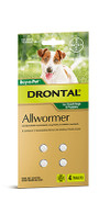 Drontal All Wormer Tablet Small Dogs 4 Pack