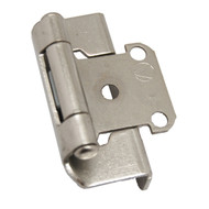 "AMEROCK Satin Nickel 1/2"" Semi-Wrap Steel Cabinet Hinge 7550-G10 (pair)"