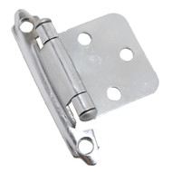 CDK Polished Chrome Variable Flush Overlay Cabinet Hinge H-0213-CH-A4 (pair)