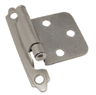 CDK Matte Nickel Variable Flush Overlay Cabinet Hinge H-0213-MN-B4 (pair)