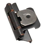 "AMEROCK Oil Rubbed Bronze 1/4"" Semi-Wrap Double Demountable Steel Cabinet Hinge 8701-ORB (pair)"