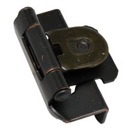 "AMEROCK Oil Rubbed Bronze 1/2"" Semi-Wrap Single Demountable Steel Cabinet Hinge 8719-ORB (pair)"