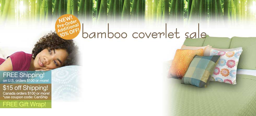 Labor Day Bamboo Coverlet Pre-Sale!