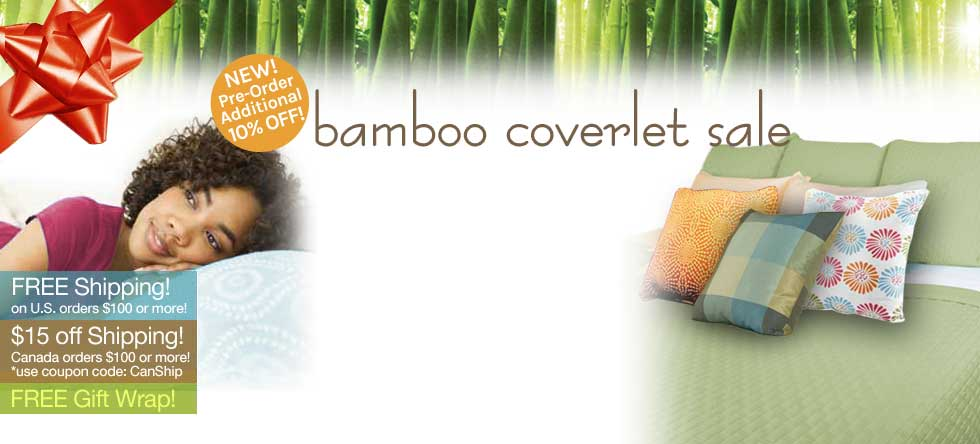 Holiday Pre-Order Bamboo Coverlet Pre-Sale!