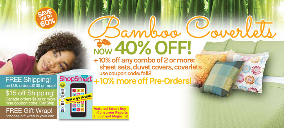 Fall into Bamboo Coverlet Sale!