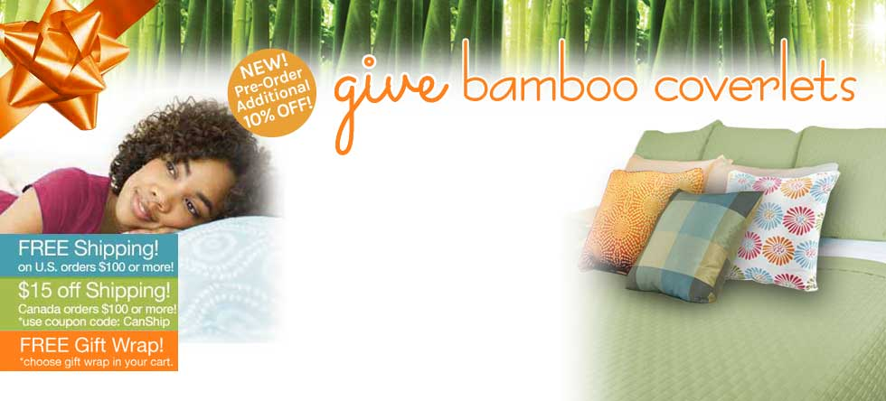 Give Thanks! Bamboo Coverlet Pre-Sale!