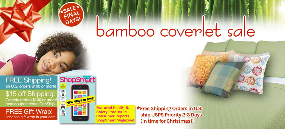 Holiday Wrap Up! Bamboo Coverlet Pre-Sale!