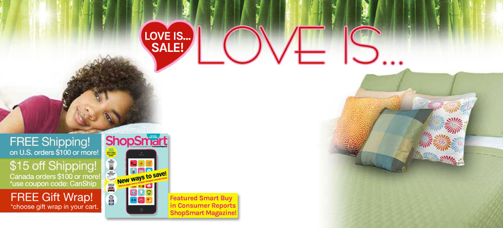 Love is...Bamboo Coverlet Sale!