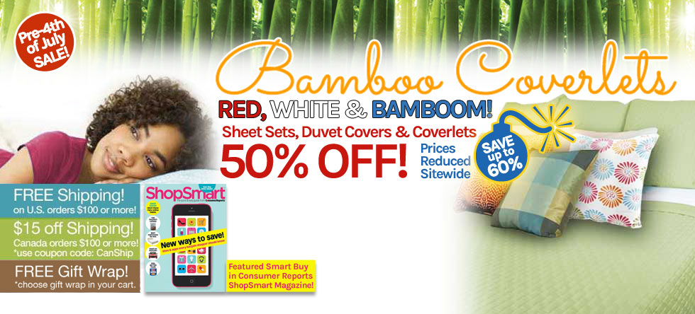 Pre-4th of July Bamboo Coverlet Sale!