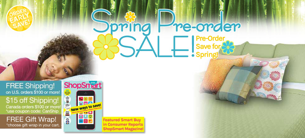 Spring Pre-Order Bamboo Coverlet Sale!