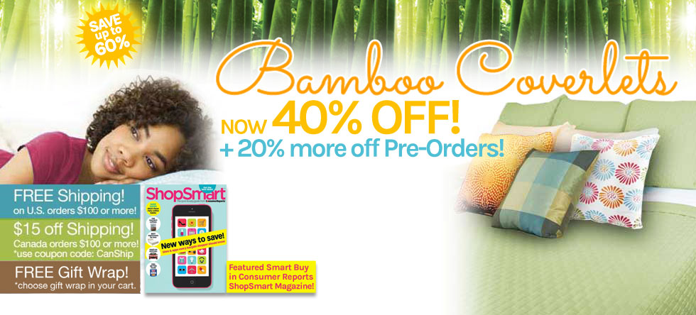 Summer Pre-Order Bamboo Coverlet Sale!