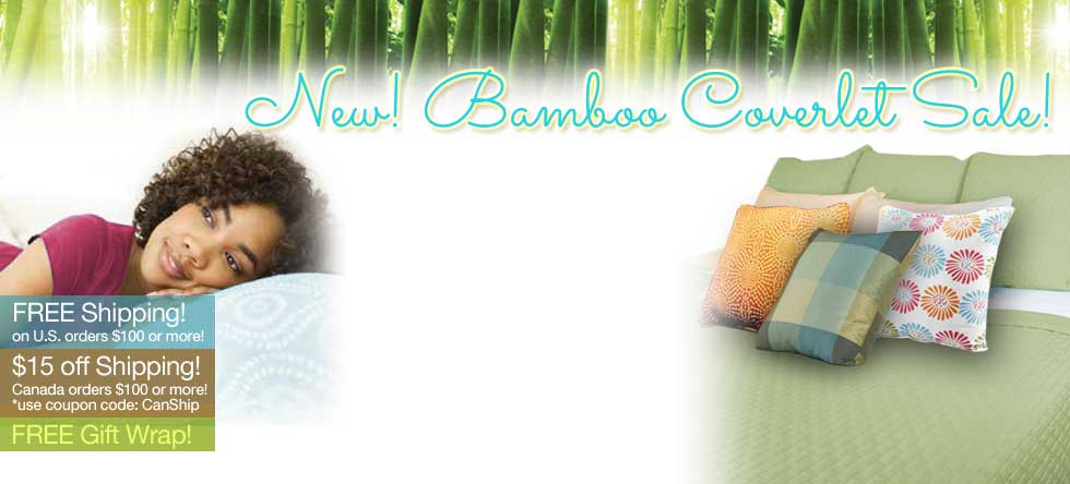 Christmas in July Bamboo Coverlet Pre-Sale!