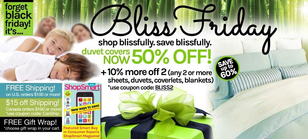 Bliss Friday! Bamboo Duvet Cover Sale!