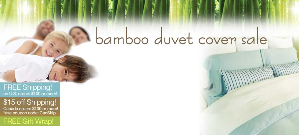Fall Bamboo Duvet Cover Sale!