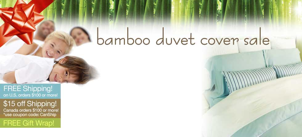 Holiday Pre-Order Bamboo Duvet Cover Sale!
