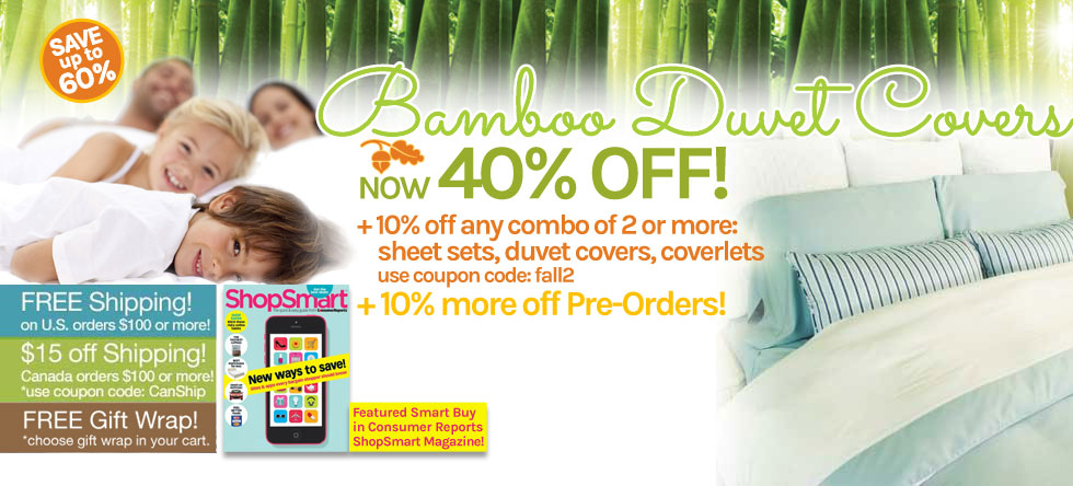 Fall into Bamboo Duvet Cover Sale!