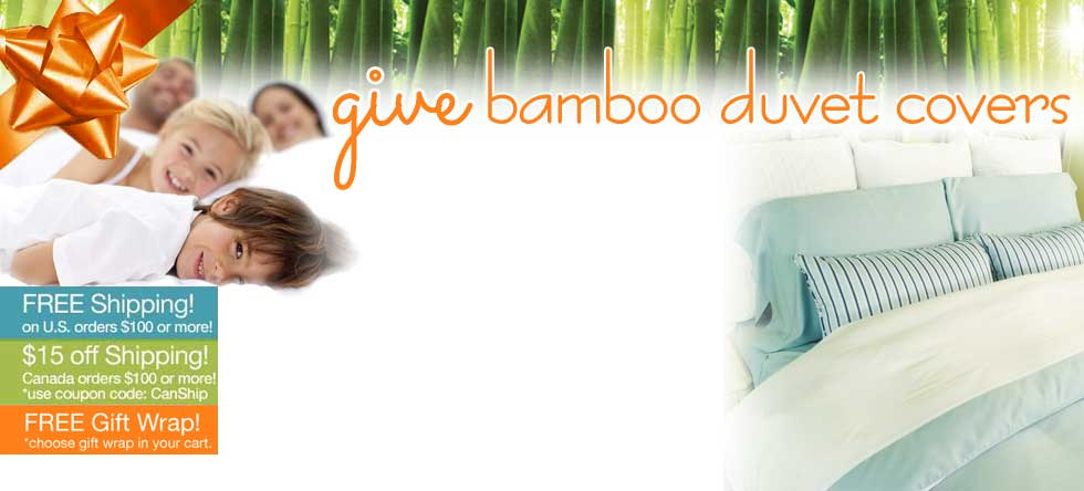Give Thanks! Bamboo Duvet Cover Sale!