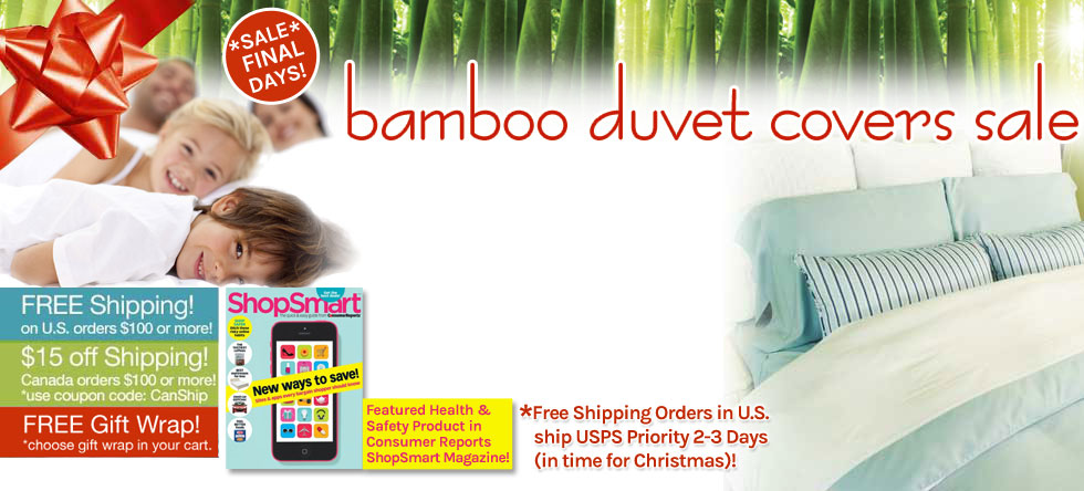 Holiday Wrap Up! Bamboo Duvet Cover Sale!