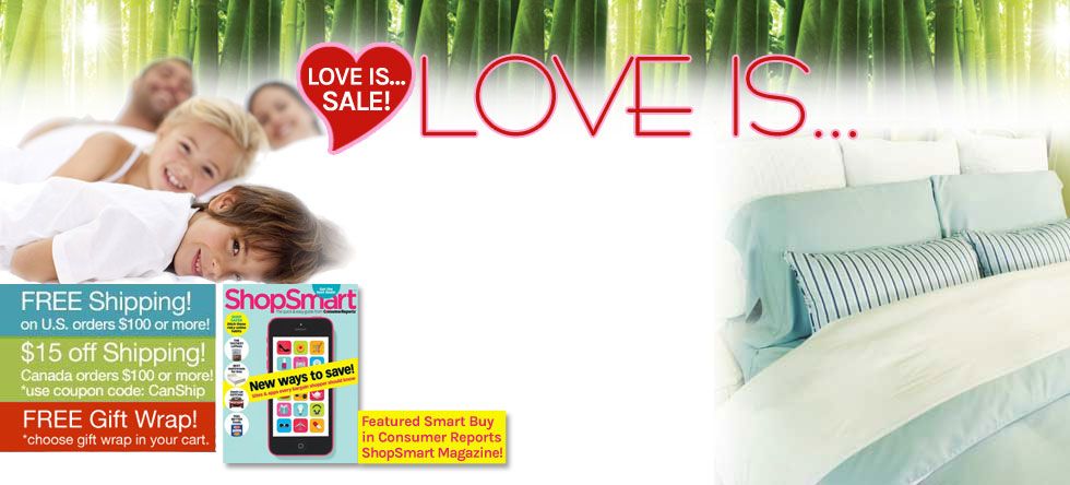 Love is...Bamboo Duvet Cover Sale!