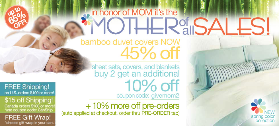 Mother of all Bamboo Duvet Cover Sale!