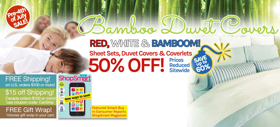 Pre-4th of July Bamboo Duvet Cover Sale!