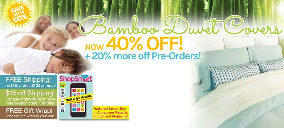 Summer Pre-Order Bamboo Duvet Cover Sale!