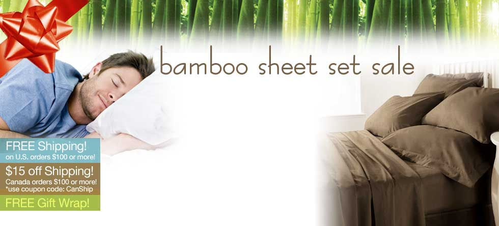 Holiday Pre-Order Bamboo Sheet Set Sale!