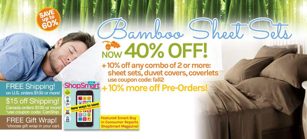 Fall into Bamboo Sheet Set Sale!