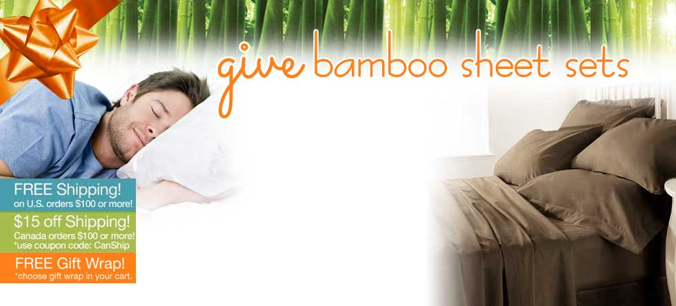 Give Thanks!  Bamboo Sheet Set Sale!